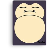 game faces: snorlax Canvas Print