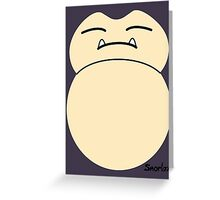 game faces: snorlax Greeting Card