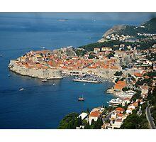 Dubrovnik - Old Port-City of Croatia Photographic Print