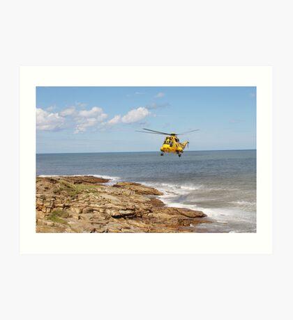 Air Sea Rescue Hover Art Print