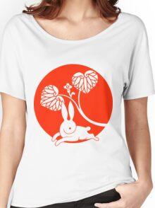 Running Rabbit Reversed Women's Relaxed Fit T-Shirt