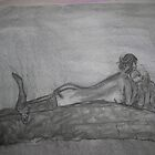 life drawing, charcol, female, nude, pencil,  by sehbear