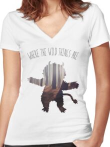 Carol Women's Fitted V-Neck T-Shirt