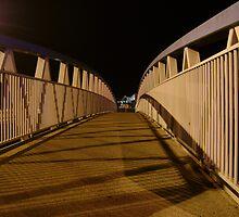 bridge (dusk: receding curves, zigzag shadows) by armadillozenith
