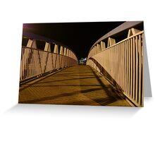 bridge (dusk: receding curves, zigzag shadows) Greeting Card