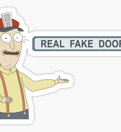 Rick and Morty: Real Fake Doors Sticker