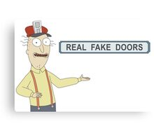 Rick and Morty: Real Fake Doors Canvas Print