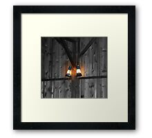 One if by land and two if by sea... Framed Print