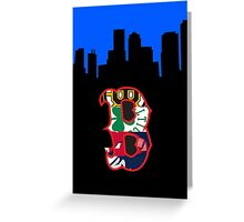 Boston Sports and Skyline Greeting Card