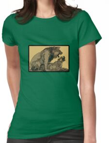 BIG CATS MATING COPULATION Womens Fitted T-Shirt