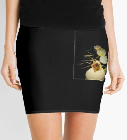 EGGS, modern  abstract, green, gold, black Mini Skirt