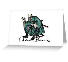 Samurai Charles Darwin Greeting Card