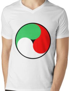 Italian Swirl Mens V-Neck T-Shirt