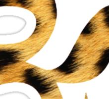 Om Leopard Sticker