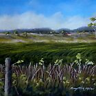 Crops in the landscape.   ( Sold  Cloncurry) by Sandra  Sengstock-Miller