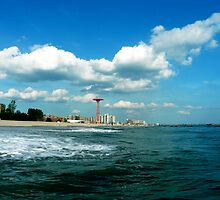 CONEY ISLAND BEACH AND AMUSEMENT PARK by KENDALL EUTEMEY