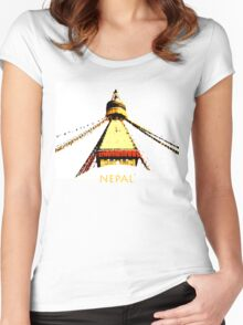Nepal Women's Fitted Scoop T-Shirt