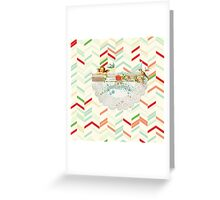 Happy holidays,merry christmas,vintage,vector art,digital,collage Greeting Card
