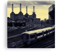 Battersea and Rail Canvas Print