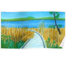Boardwalk to Great Bay Poster