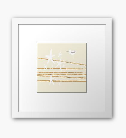 Shoreline - sand Framed Print