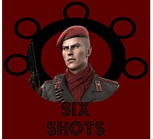 Ocelot: Six Shots - Balls to the Wall Photographic Print