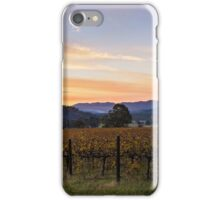 Sunset over the vines iPhone Case/Skin