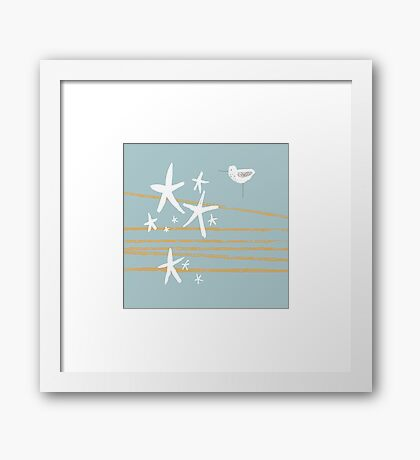 Shoreline - sea foam  Framed Print
