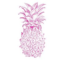 Pink Pineapple Photographic Print