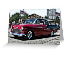 Double Nickel,......55 Chevy Greeting Card