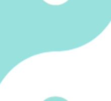 Turquoise Yin Yang Sticker