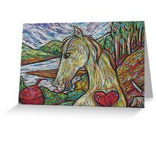 Hearty Horse Greeting Card
