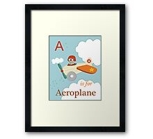 A is for Aeroplane Framed Print