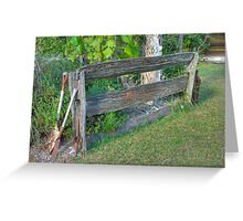 Post and Rail Fence, Hervey Bay, Queensland  (HDR) Greeting Card