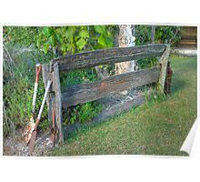 Post and Rail Fence, Hervey Bay, Queensland  (HDR) Poster