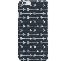 Chalkboard Arrow Pattern - Black and White Tribal iPhone Case/Skin
