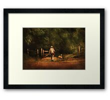 A man and his best friend Framed Print