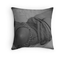 just waiting.... Throw Pillow