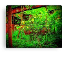 Red Versus Green,Versus Man,Versus Nature  Canvas Print