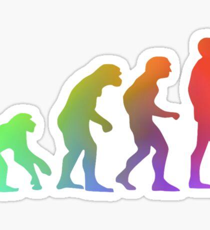 Rainbow Evolution of Man Sticker
