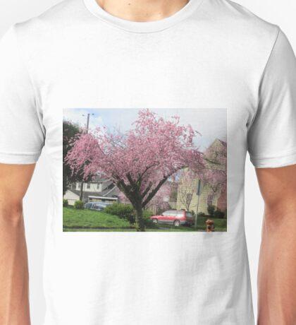 Pink buds on tree Unisex T-Shirt