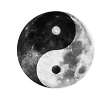 Moon Yin Yang Photographic Print