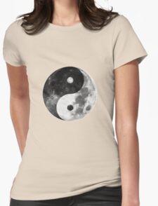 Moon Yin Yang Womens Fitted T-Shirt