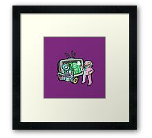 Monsters and junk Framed Print