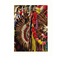 Feather Frenzy Art Print