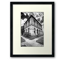 Going Postal # 2 (Monochrome)- Clunes Post Office , Victoria - The HDR Experience Framed Print