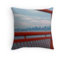 Manhattan, Staten Island Ferry Throw Pillow