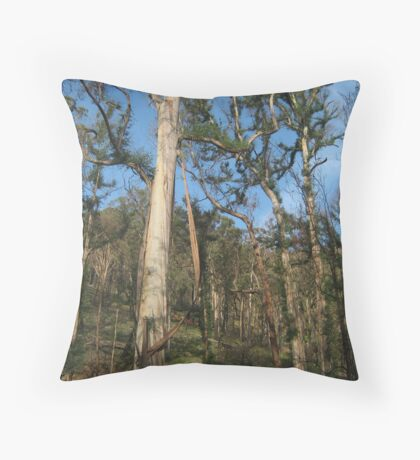Hairy Trees Throw Pillow