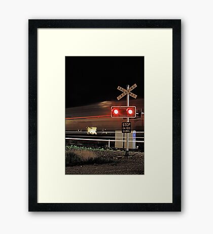 Stop On Red Signal  Framed Print