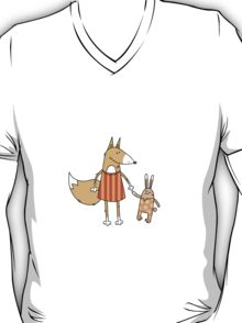 Fox and hare. T-Shirt